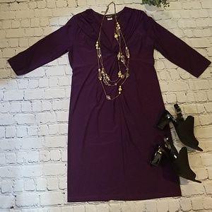 Effortless Style Purple Dress
